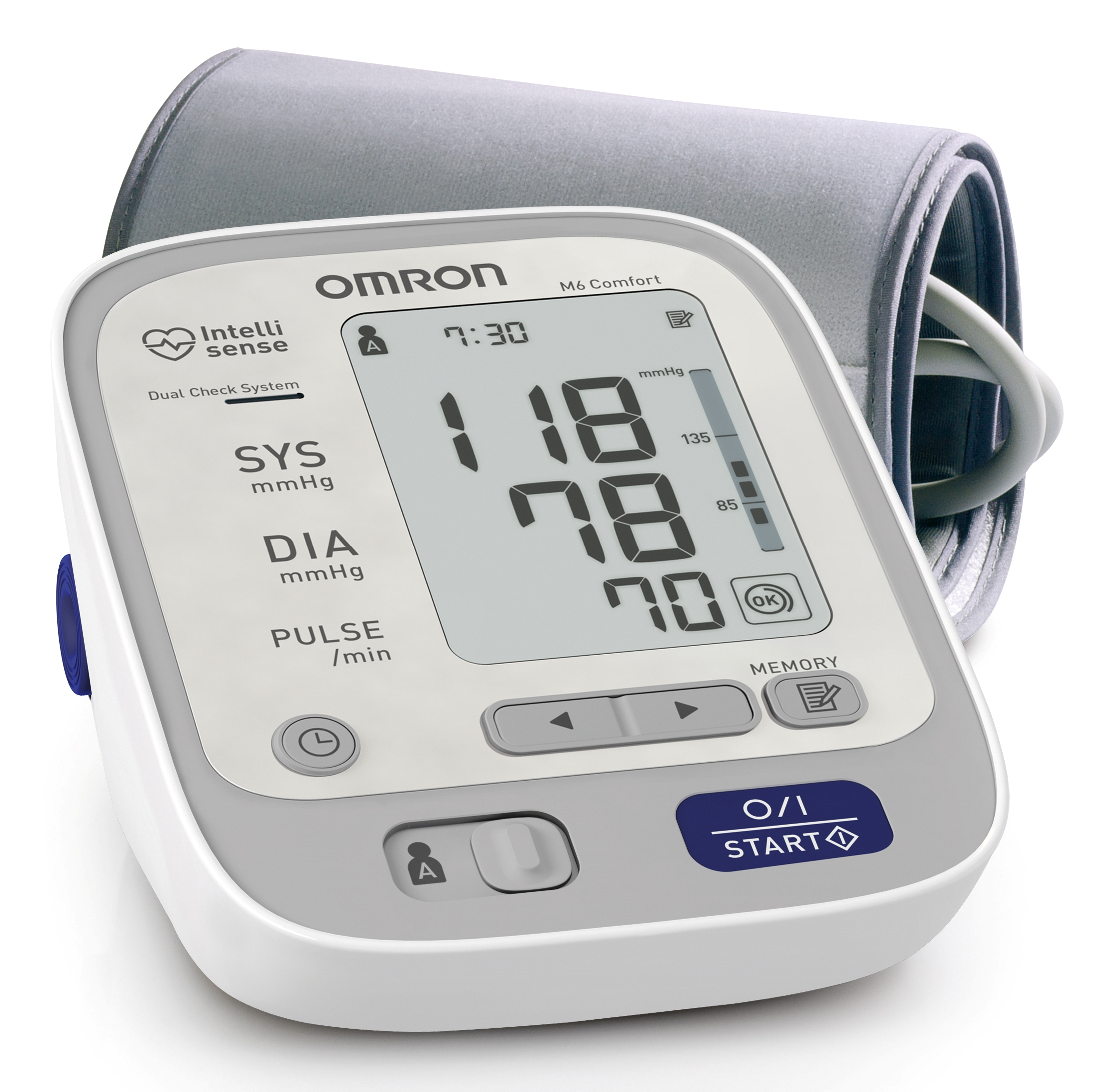 upper arm digital blood pressure monitor omron m6 comfort for. Black Bedroom Furniture Sets. Home Design Ideas