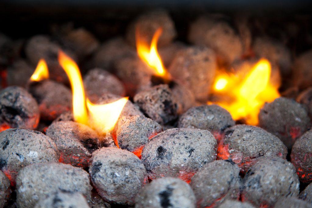 burning-charcoal-briquettes