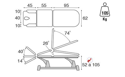 Schéma de la table d'osteo 5030