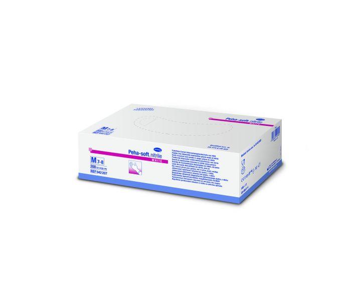 Gants d'examen en nitrile sans poudre Peha-soft Nitrile Blanc Hartmann