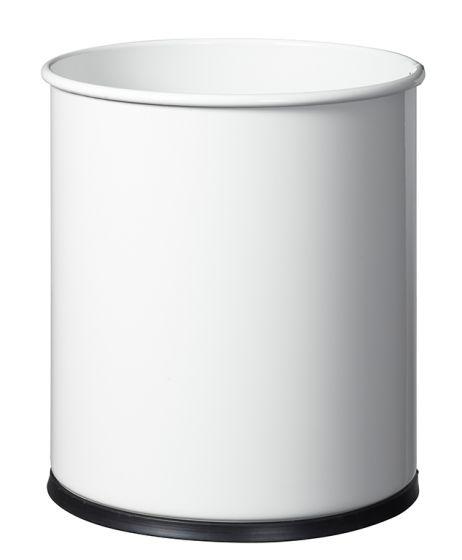 Corbeille à papier Rossignol Papea 15L Blanc non  perforé
