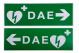 Signalétique DAE, PVC
