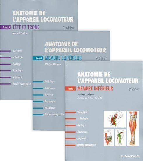 Livre, Anatomie de l'appareil locomoteur, pack de 3 Tomes Elsevier Masson