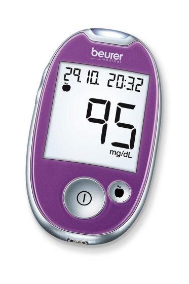 Appareil de mesure de glycémie Beurer GL 44 Prune