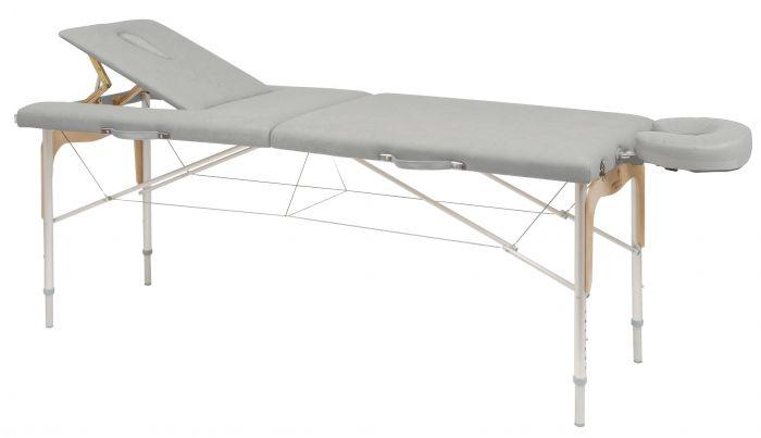 Table de massage pliante réglable aluminium et bois Ecopostural C3310