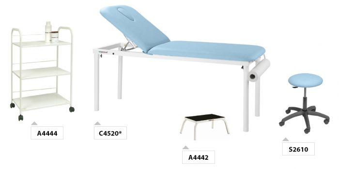 Pack mobilier PACK01 Ecopostural Table de massage fixe C4520