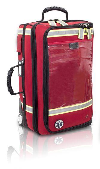 Sac urgence Emerair Rouge à roulettes Elite Bags EMERAIR'S TROLLEY