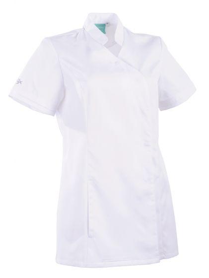 Tunique médicale femme coupe cintrée Ayako 2LIN Clemix 2.0 Lafont blanc