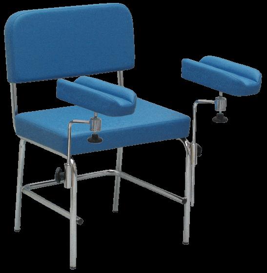 Chaise de prélèvement Hidemar, 2 repose-bras