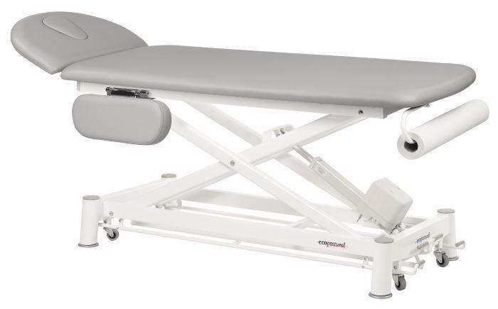 Table de massage électrique 2 plans avec accoudoirs barres péripheriques Ecopostural C7524