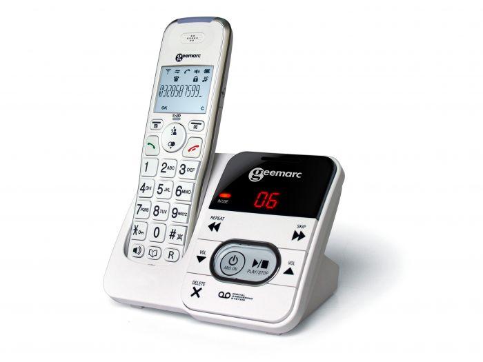 Télephone amplifié sans fil à grosse touches avec répondeur Geemarc AMPLIDECT295