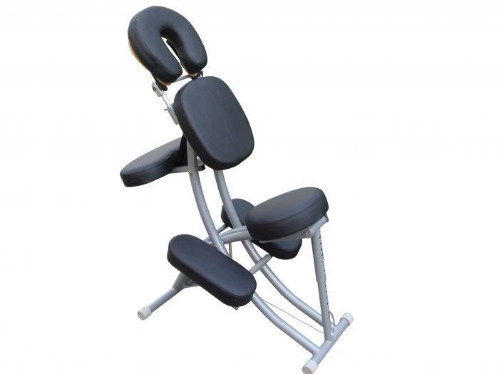 Chaise de massage en aluminium PraxiLine Noire