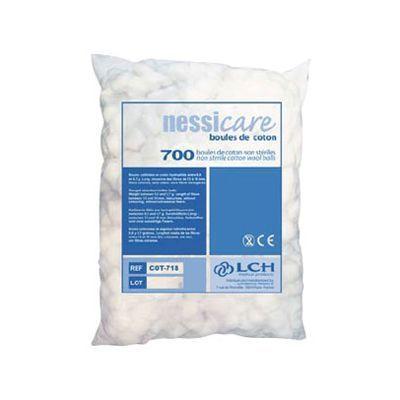 Boule de coton hydrophile LCH Nessicare sachet de 700 boules