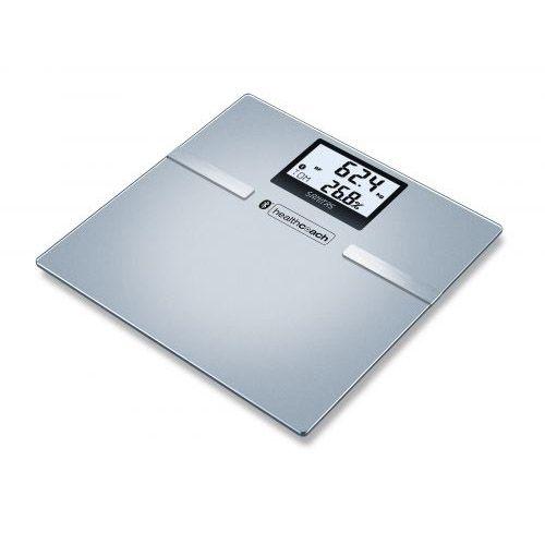 Pèse-personne impédancemètre Bluetooth en verre SBF 70 Sanitas