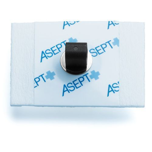Electrode mousse rectangulaire 44 x 32mm à pontet Asept InMed sachet de 60