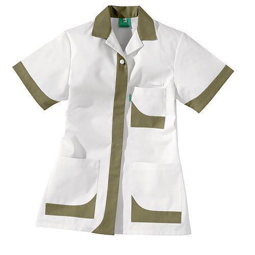 Tunique médicale femme courte LUA Taille 0 Coloris Blanc - beige ficelle