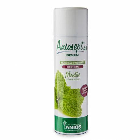 Spray désinfectant rapide Aniosept 41 Premium Menthe 400 mL Anios