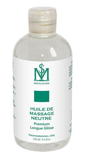 Huile de massage neutre premium longue glisse Medicafarm 250 ml