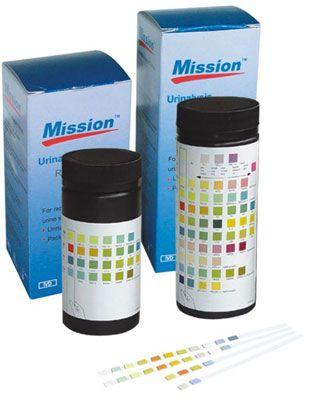 50 Bandelettes réactives pour analyse d'urine Mission 4 paramètres GLU/PRO/SNG/pH