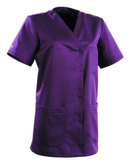 Tunique médicale femme ALEXANDRA Clemix 2.0 Prune Evêque