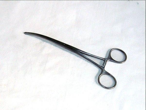 Pince clamp Doyen, intestinal, courbe, 18 cm