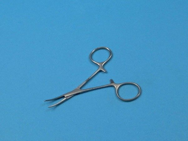 Pince Micro Halstead, 10 cm, courbe, A/G