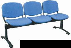 Banc, assise tissu vinyle, 3 fauteuils Hidemar