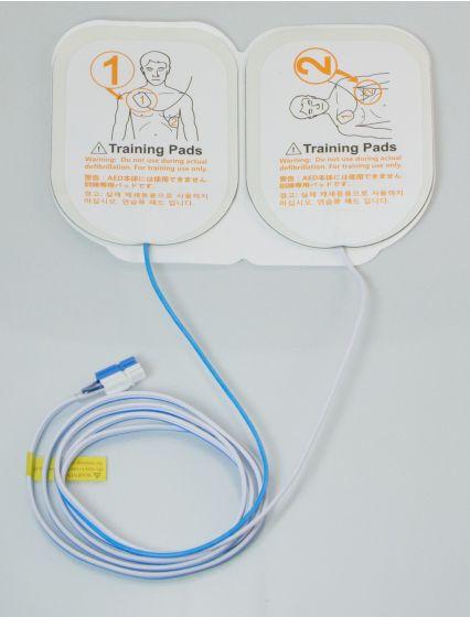 Paire d'électrodes pré-connectées standards pour défibrillateur de formation COLSON DEF-I  I-PAD Trainer NF-1200