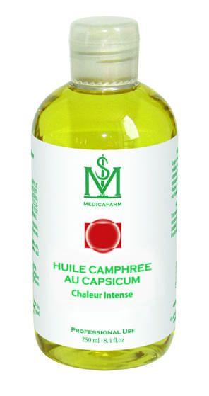Huile camphrée au Capsicum formule Chauffante Medicafarm Flacon Stop-Goutte 250 ml