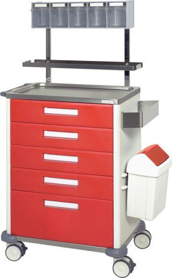 Chariot de soins et infirmerie 5 tiroirs Hidemar H 775 EP