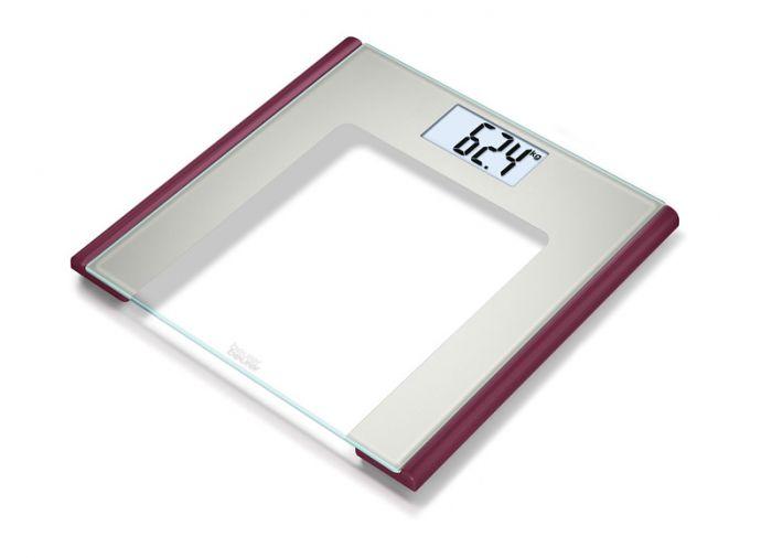 Pèse-personne en verre Beurer GS 170 Ruby