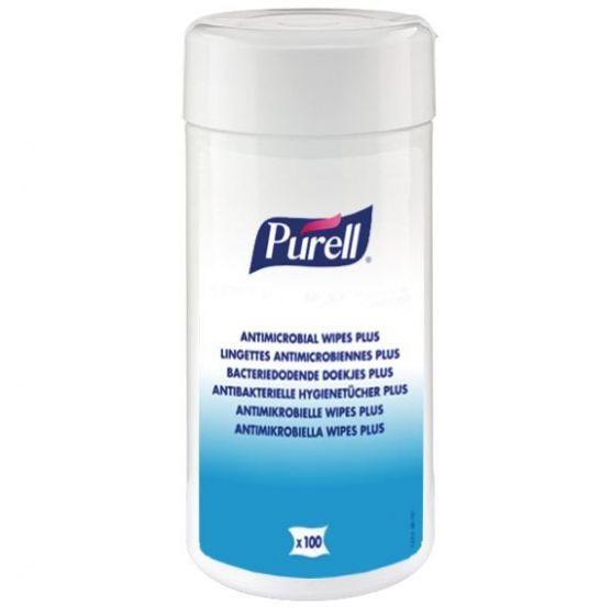 Lingettes Antimicrobiennes Plus Purell Boîte de 100 lingettes