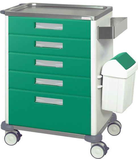 Chariot de soins et infirmerie 5 tiroirs Hidemar H 775 EB