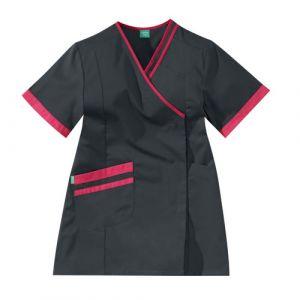 Tunique médicale femme LILEE 8TCC00PC Carbone/Fushia