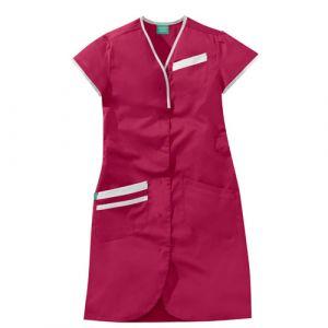Blouse médicale femme manches courtes DAPHNEE 8PMC00PC Rose fushia/Blanc