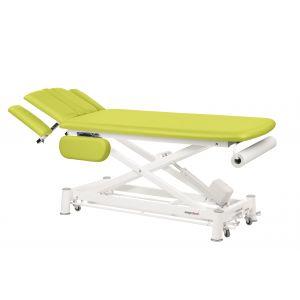 Table de massage électrique pour ostéo et kiné avec accoudoirs Ecopostural C7544