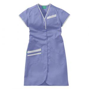 Blouse médicale femme manches courtes DAPHNEE 8PMC00PC Parme/Blanc