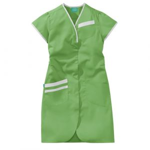 Blouse médicale femme manches courtes DAPHNEE 8PMC00PC Vert pomme/Blanc