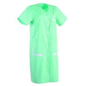 Blouse médicale femme manches courtes LISA Lafont Vert d'eau / blanc