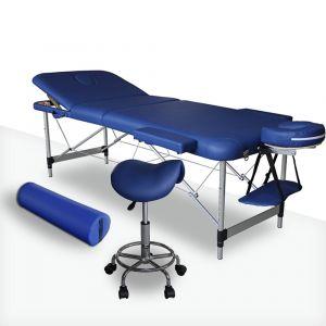 Pack Massage coloris Bleu Mediprem : Votre table de massage avec tabouret et coussin de massage