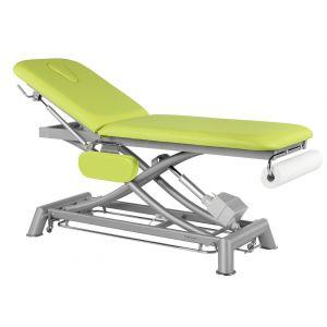 Table de massage électrique 2 plans avec accoudoirs et barres péripheriques Ecopostural C7951