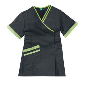 Tunique médicale femme LILEE 8TCC00PC Carbone/Vert pomme
