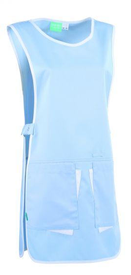 Chasuble médical pour femme Clara Lafont Bleu ciel/blanc
