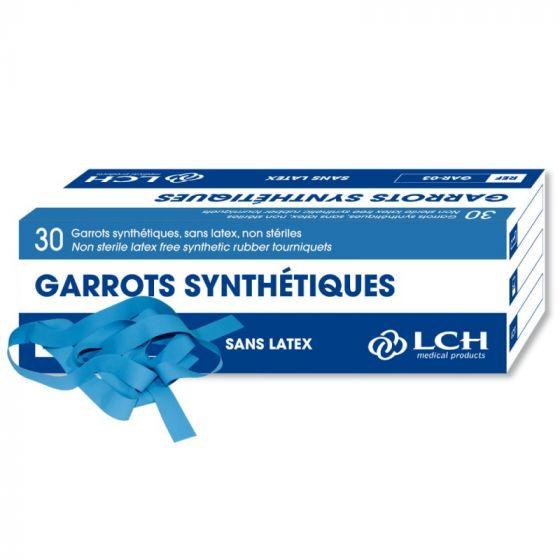 Boîte de 30 garrots synthétiques SANS LATEX non stériles GAR-03 LCH