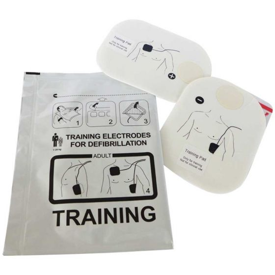 Paire d'électrodes de formation pour défibrillateur Schiller Fred Easy et Fred PA-1 Trainer