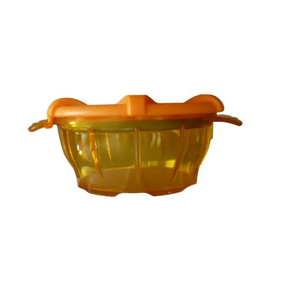 Bol polycarbonate avec couvercle thermodynamique orange Holtex