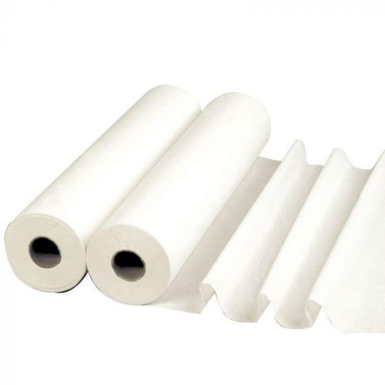 Drap d'examen Blanc pur 70 cm Large x 38 cm LCH Carton de 6 rouleaux