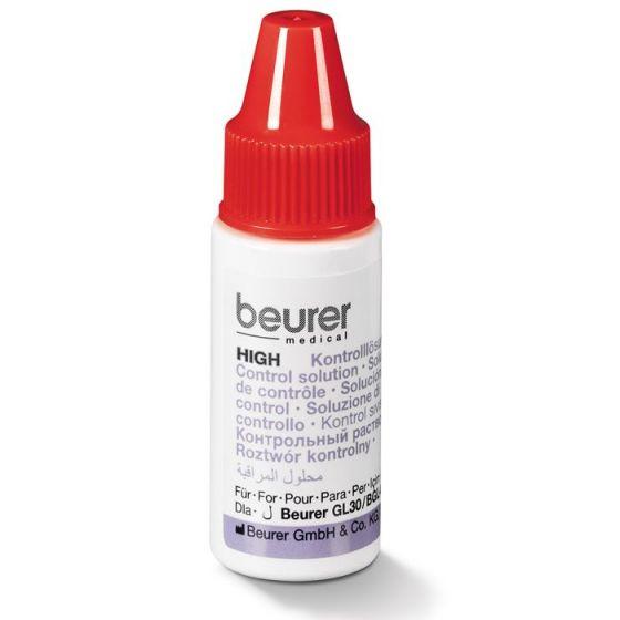 Solution de contrôle de la glycémie sanguine Beurer HIGH (plage de mesure élevée)