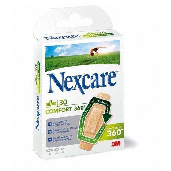 Pansements 3M Nexcare Comfort 360° Boîte de 30