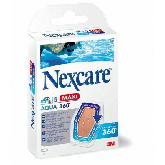 Pansements 3M Nexcare Protect Aqua 360° Maxi Boîte de 5